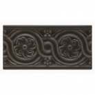 Декор Флорес Черкоэл 7,5х15 см Adex Nature ADNT5059 Relieve Flores Charcoal