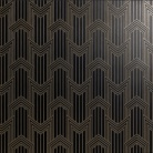 "Декор 60х60 см Petracer's Swing Decoro ""geometria"" in ottone su nero matt 60x60"
